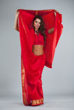 Young traditional Asian Indian woman in indian sari Stock Image