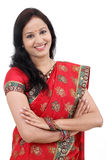 Young traditional Indian woman with arms crossed Stock Photography