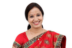 Young traditional Indian woman with arms crossed Royalty Free Stock Image