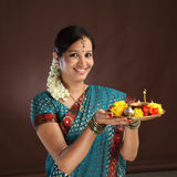 Young traditional woman Stock Images