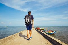 Young traveler in Asia Stock Photo