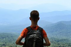 Young traveler with backpack royalty free stock photos