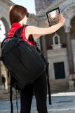 Young traveler in the city Royalty Free Stock Images