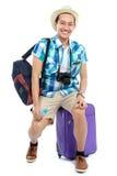 Young traveler smiling Stock Photos