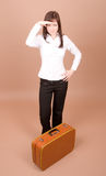 Young traveler with suitcase stock images