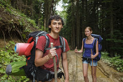 Young travelers Stock Image
