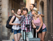 Young travelers doing selfie Royalty Free Stock Images