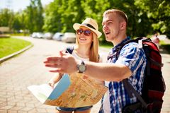 Young travelers Stock Photo