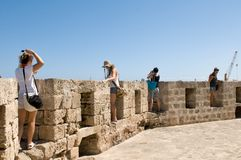 Young travelers and prospect - Famagusta Stock Photography