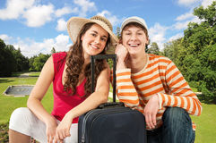 Young travelers Royalty Free Stock Images