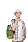 Young traveling man Royalty Free Stock Photos