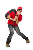 The young traveller with backpack  Royalty Free Stock Images