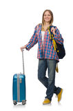 Young traveller isolated Royalty Free Stock Photo