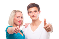 Young trendy couple Royalty Free Stock Photography