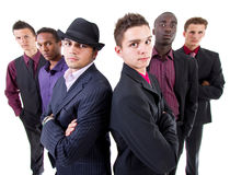 Young trendy interracial businessmen Stock Photography