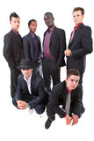 Young trendy interracial businessmen Stock Photo