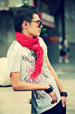 Young trendy man. In sunglasses Royalty Free Stock Photography