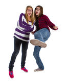 Young trendy teenagers Stock Photography
