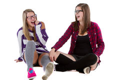 Young trendy teenagers Royalty Free Stock Photos