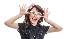 Young trendy woman Stock Images