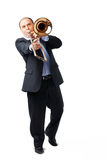 Young Trombone Player Stock Photography