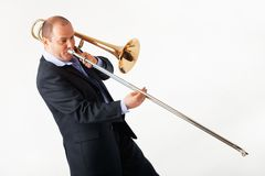 Young Trombone Player Stock Photos