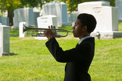 Young Trumpeter at Arlington Royalty Free Stock Images