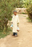 Young Tunisian boy in an desert oasis Royalty Free Stock Image