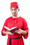 Young turk with book Royalty Free Stock Image