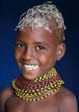 Young Turkana girl in Loyangalani, Kenya. Stock Photography
