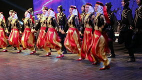 Young Turkish dancers in traditional costume Royalty Free Stock Photo