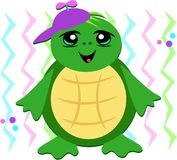 Young Turtle with a Spinner Hat Stock Photos