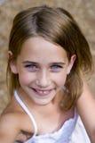 Young tween girl looking up Stock Image