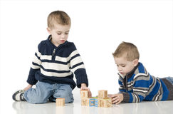 Young twin boys Royalty Free Stock Photography