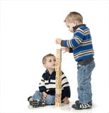 Young twin boys Royalty Free Stock Images