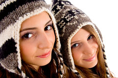 Young two friends standing together Royalty Free Stock Images