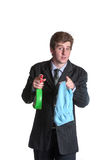 Young unemployed business man Royalty Free Stock Image