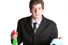 Young unemployed business man Stock Images