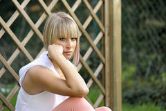 Young unhappy woman Royalty Free Stock Image