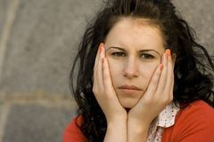 Young unhappy woman Stock Image