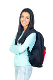 Young University Student with a Bagpack Stock Images