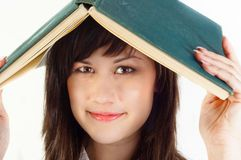 Young university student with a book Stock Images