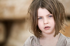 Young Unkempt Blonde Child Stock Images