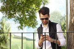 Young urban businessman portrait Royalty Free Stock Image