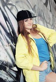 Young Urban Cheerful Teenage Girl Royalty Free Stock Photography