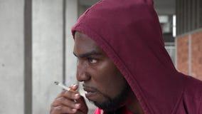 Young Urban Male Smoking