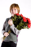 Young valentine boy Stock Images