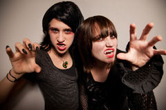 Young Vampire Girls Royalty Free Stock Image