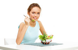Young vegetarian Royalty Free Stock Images