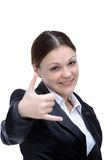 Young very happy businesswoman Royalty Free Stock Photography